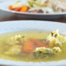 Chicken and Beef Soup with Semolina Dumplings